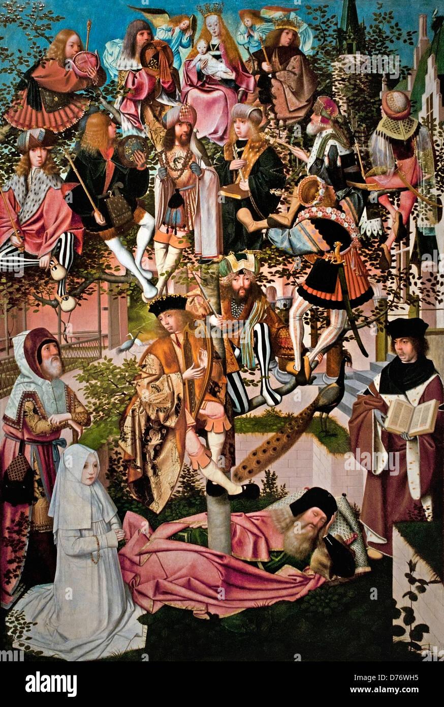 Der Baum von Jesse Kreis Geertgen tot Sint Jans 1500 Niederlande Niederlande (Stammbaum Christi) Stockfoto
