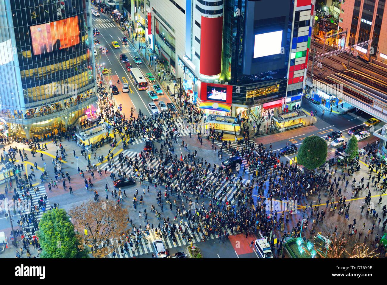 Shibuya Kreuzung in Tokyo, Japan Stockfoto, Bild: 56086842 - Alamy
