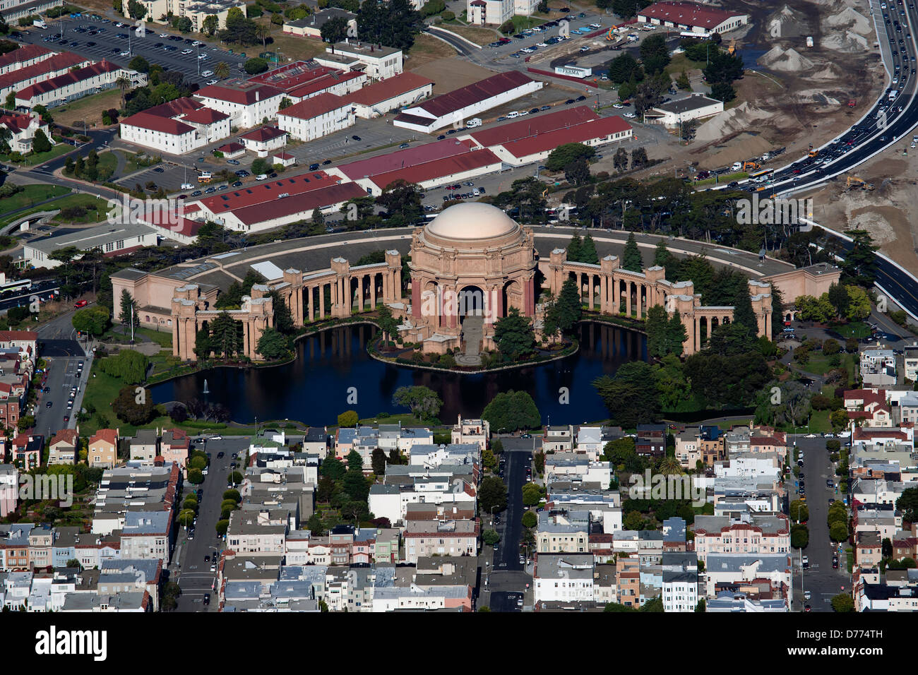 Luftaufnahme Palace of Fine Arts, San Francisco, Kalifornien Stockbild