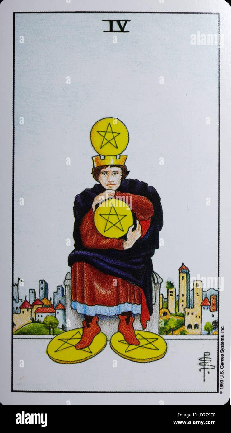 Tarot-Karte Stockbild