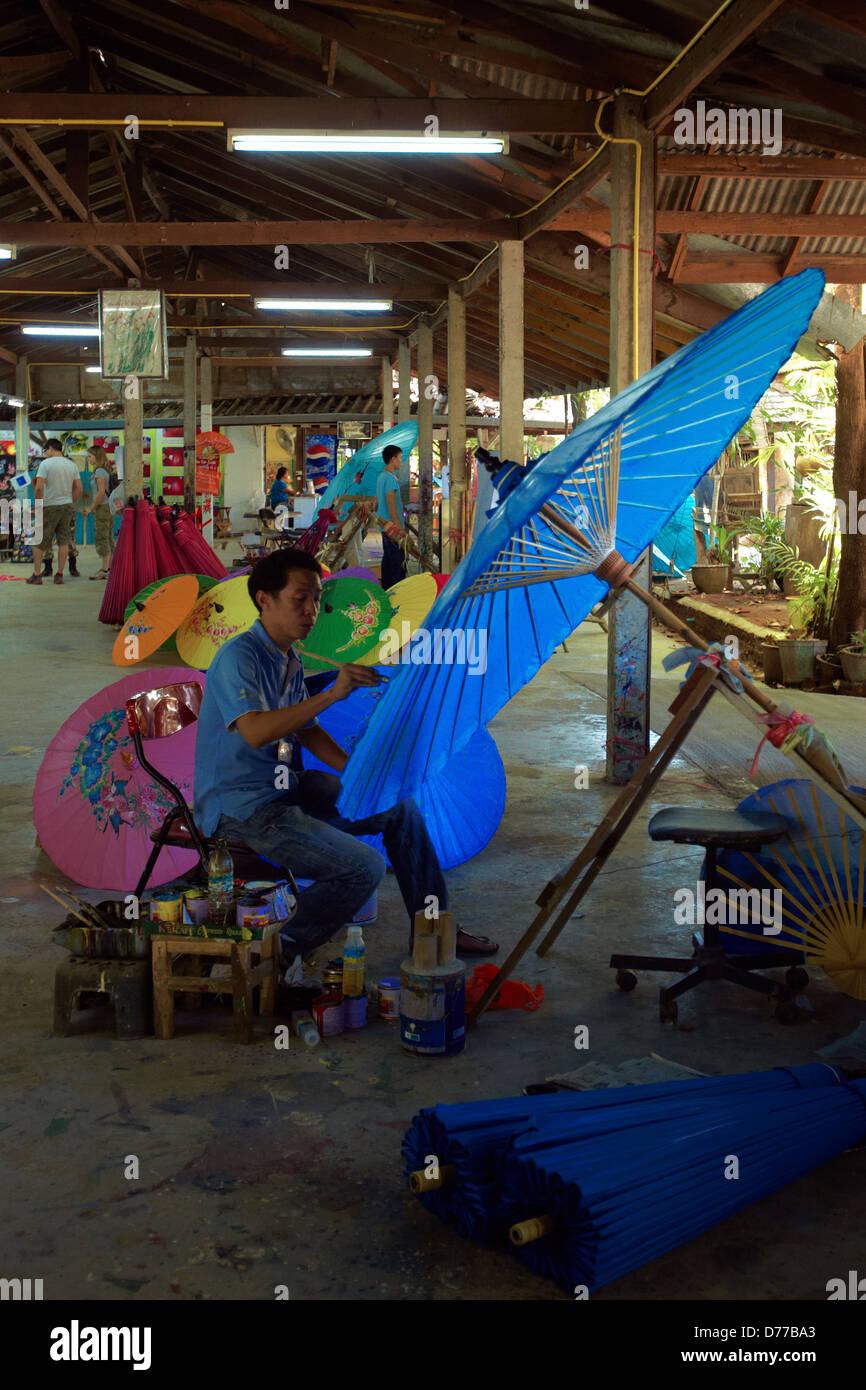 Schirme Bo Sang Dorf Thailand Stockbild