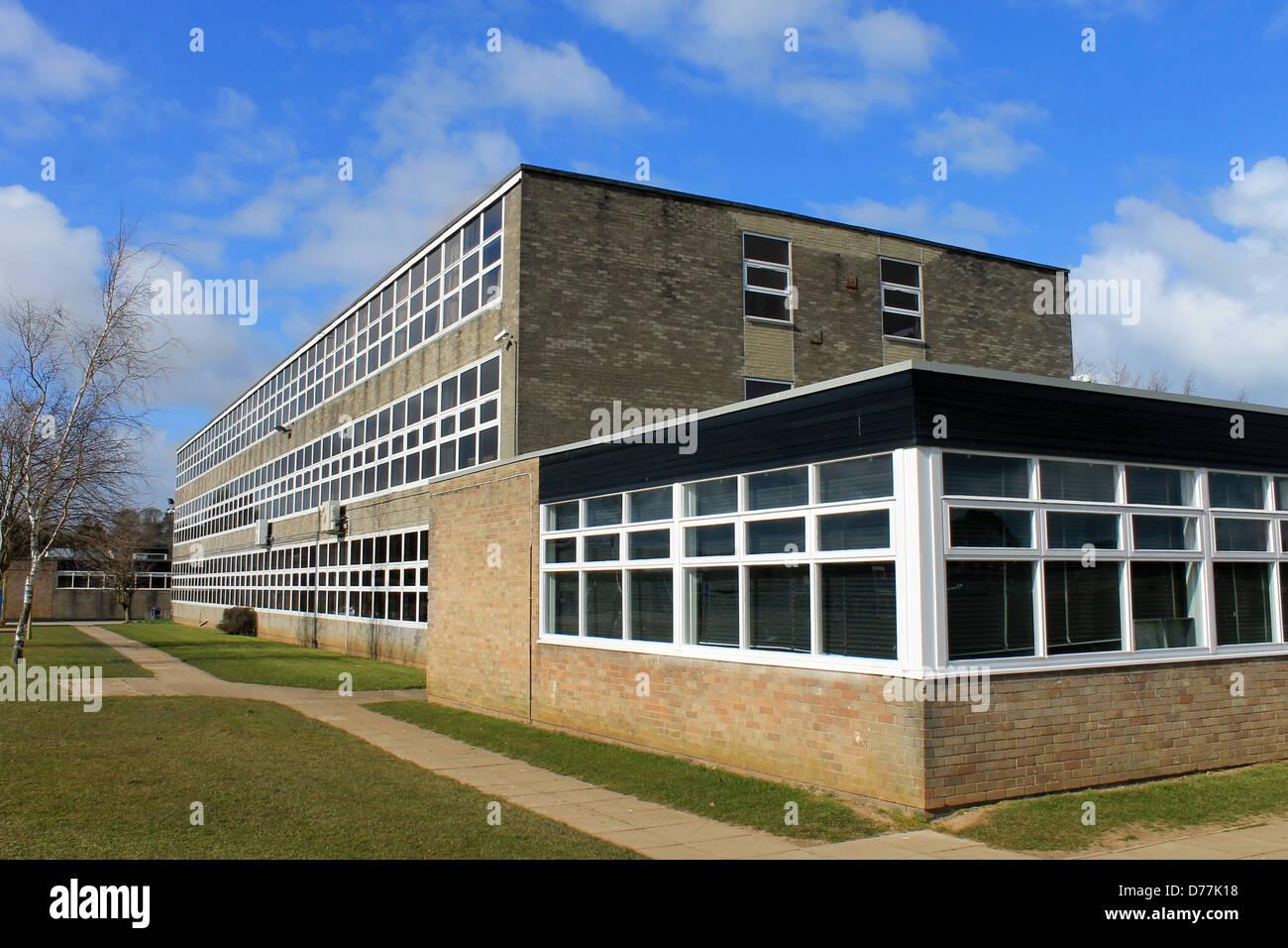 Exterieur der weiterführenden Schule, Scarborough, England. Stockbild