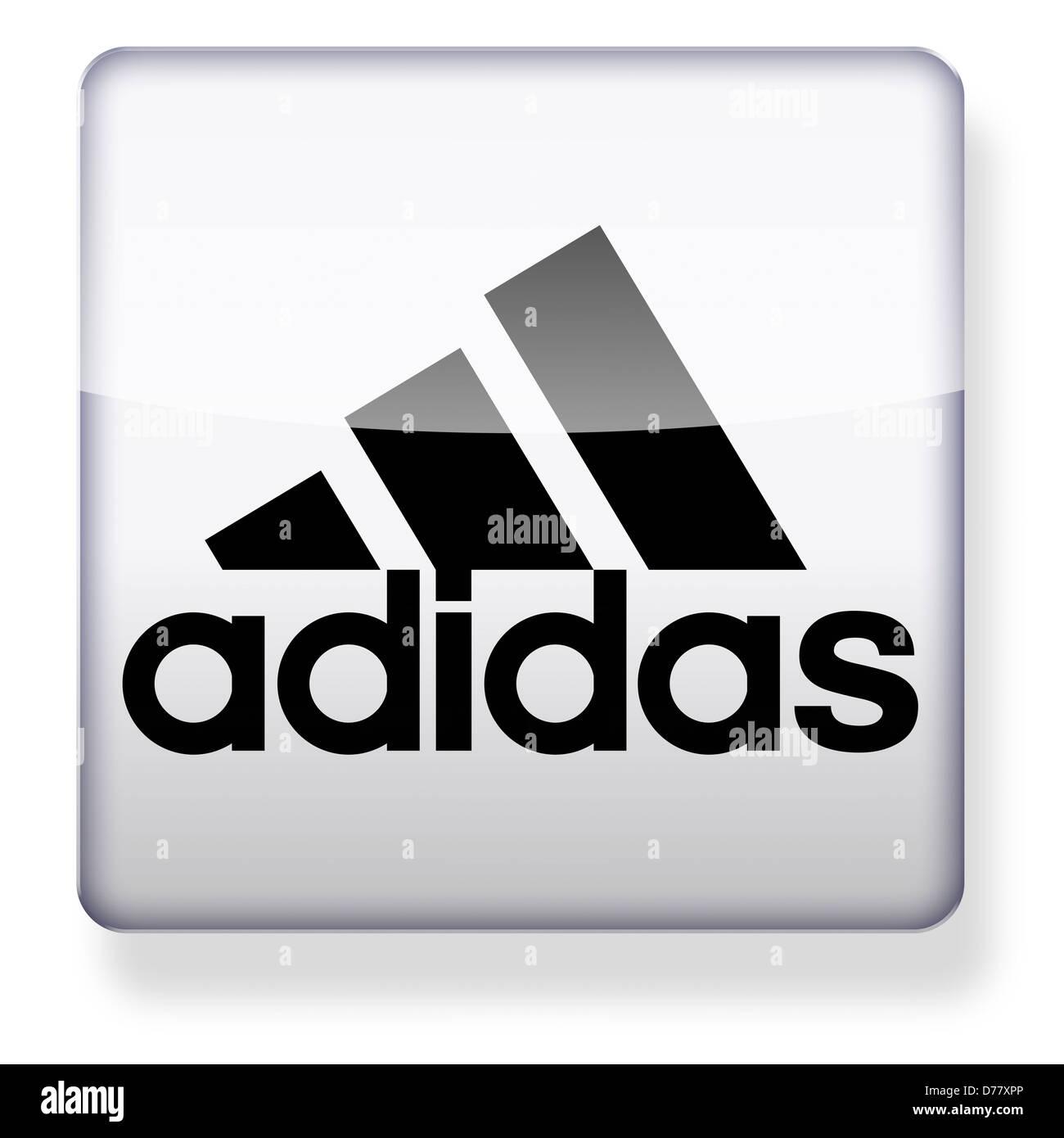 Adidas Logo als ein app Symbol. Clipping Pfad enthalten