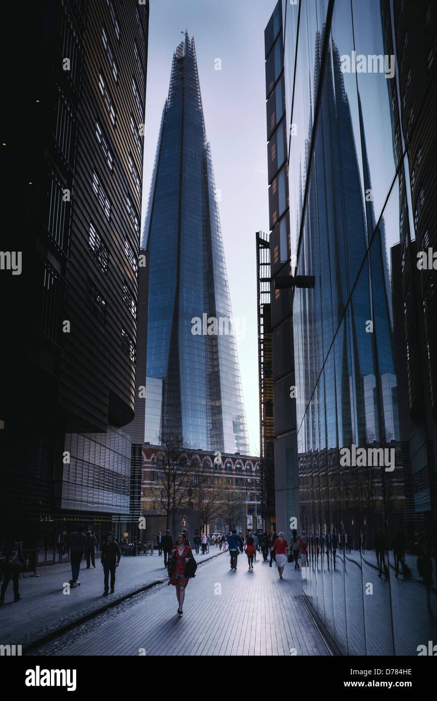 Einzigartigen Blick auf die Scherbe, london Stockbild