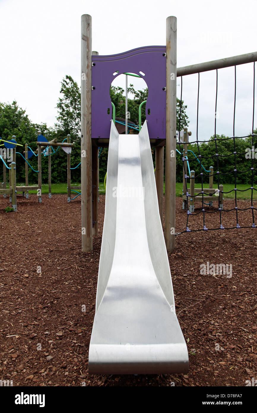 Playground Slide Climbing Frame Stockfotos & Playground Slide ...
