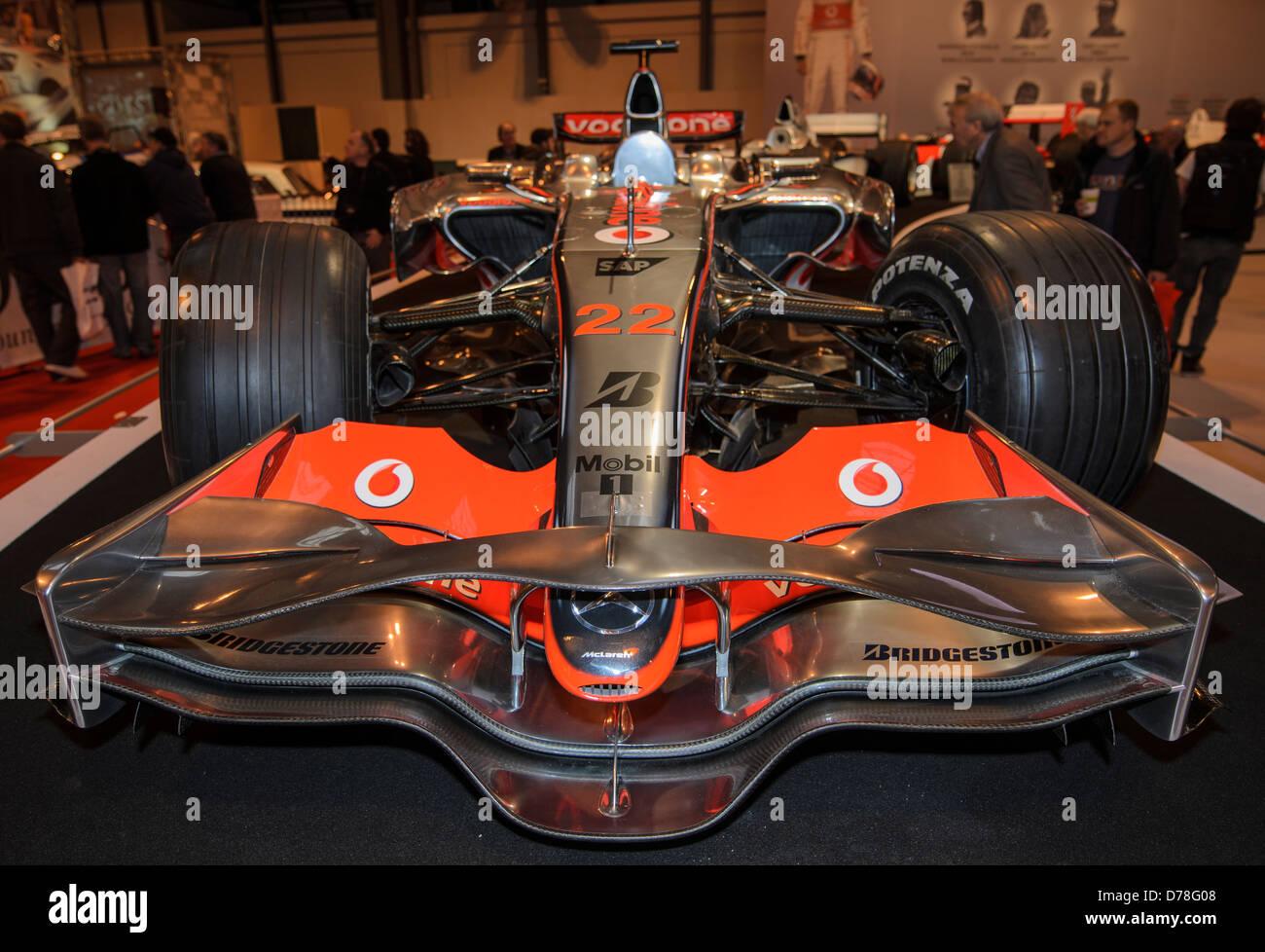 McLaren F1-Auto auf dem McLaren-Stand auf der Autosport Show, NEC, Birmingham, England am 14. Januar 2011 Stockbild