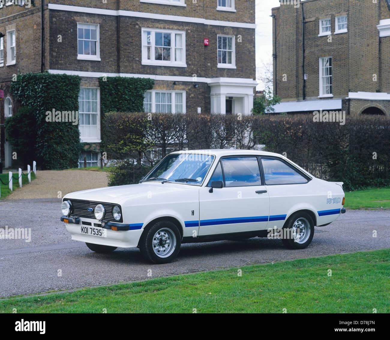 ford escort rs1800 rs 1800 1975 stockbild