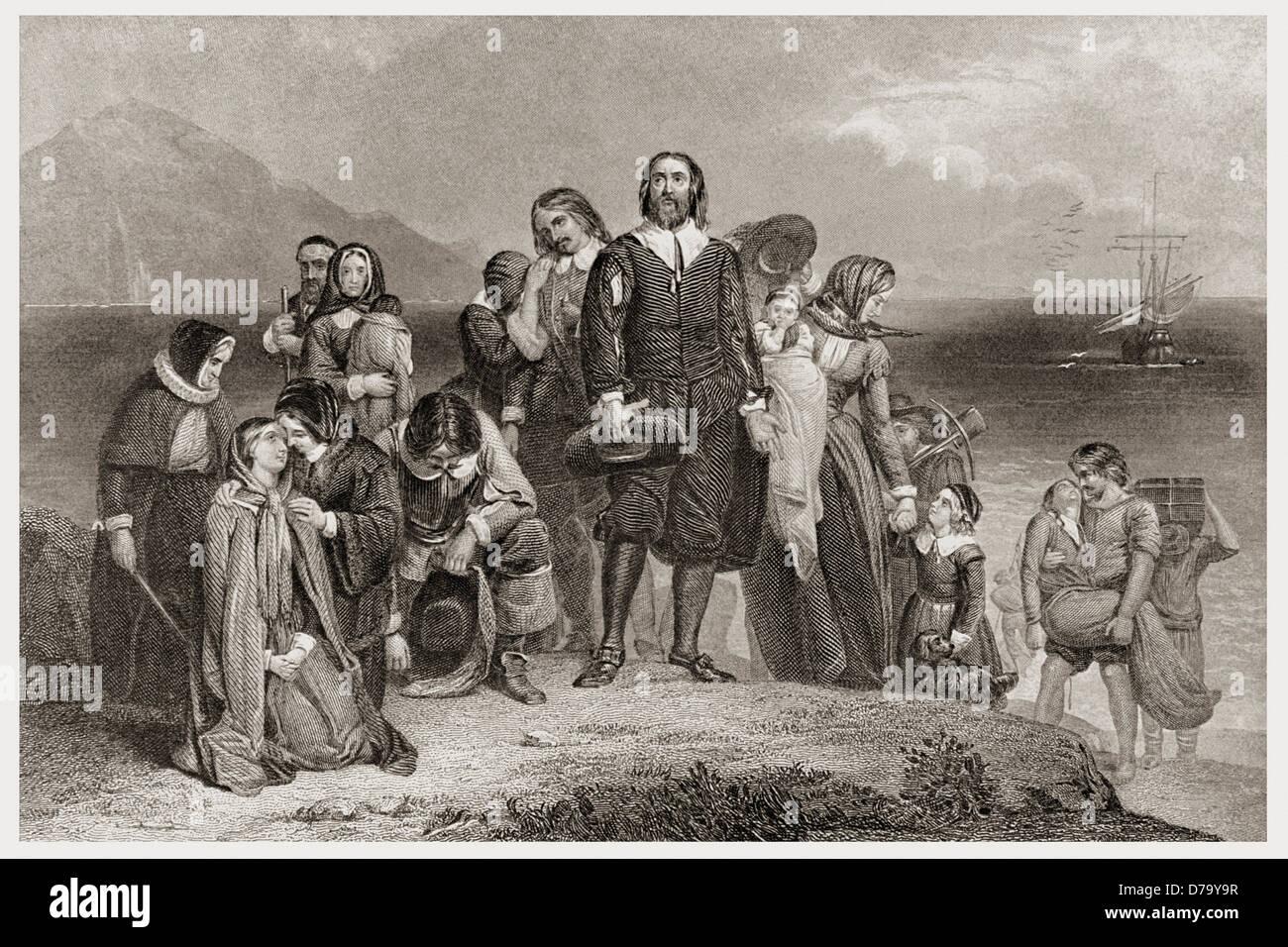 Erste Landung Pilger 1620 Stockbild