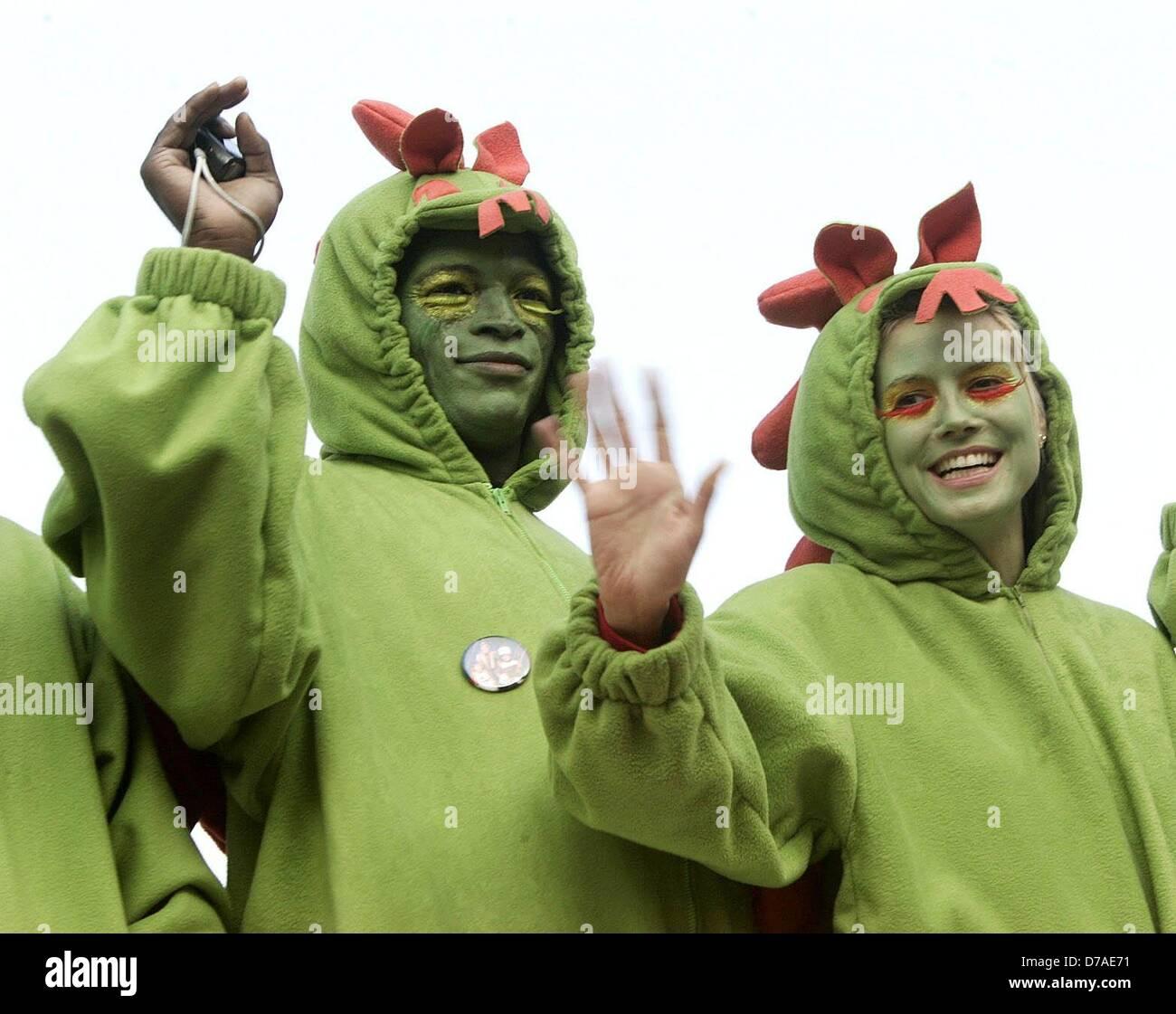 Seal und Heidi Klum feiern Karneval in Bergisch-Gladbach, der Heimatstadt von Heidi Klum, den 06. Februar 2005. Stockfoto