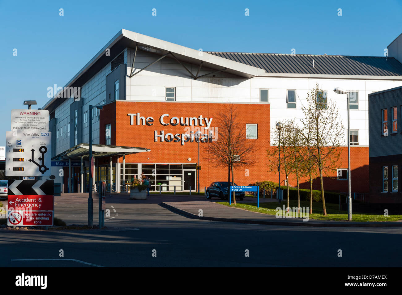 Hereford-NHS-Krankenhaus. Kreiskrankenhaus, Herefordshire, England dienen. Stockfoto