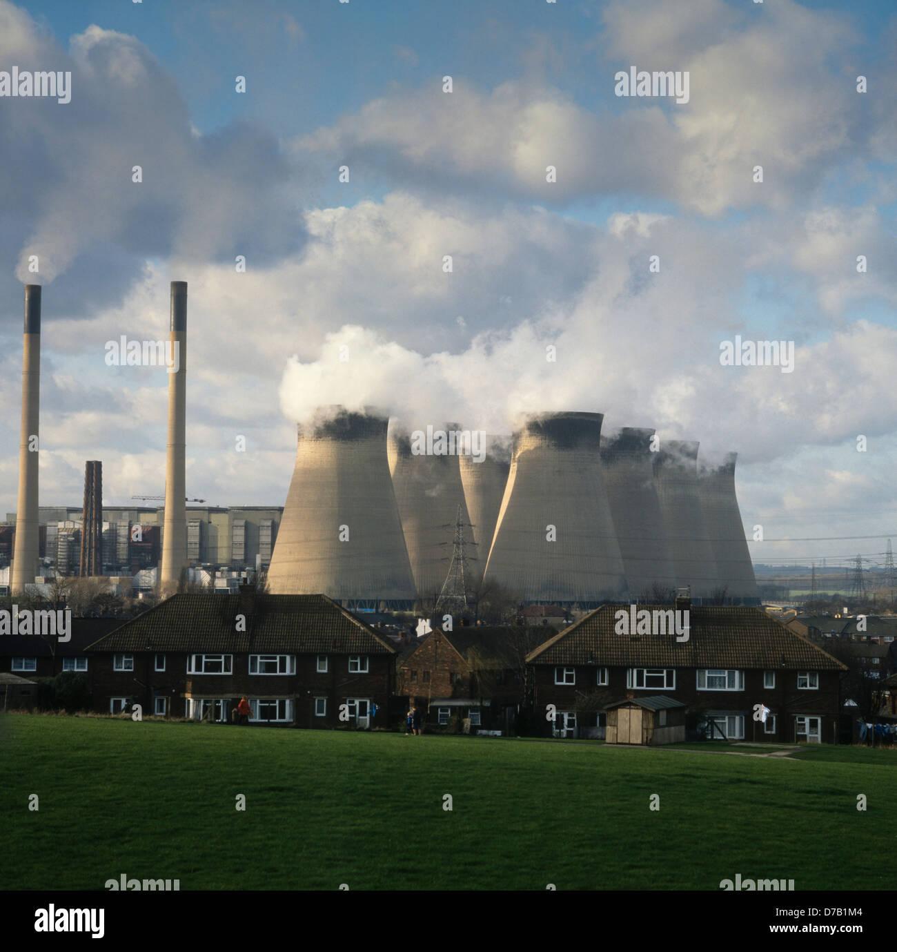 Ferrybridge befeuerten Kohle Kraftwerk. West Yorkshire. England Stockbild