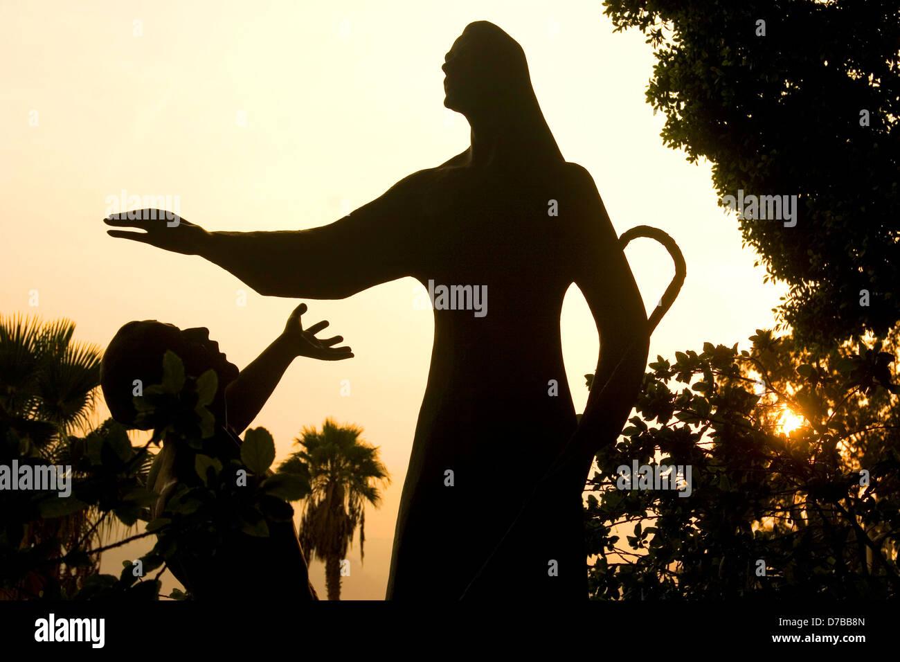 Statue von Jesus Christus und St. Peter In Tabgha, See Genezareth Stockbild