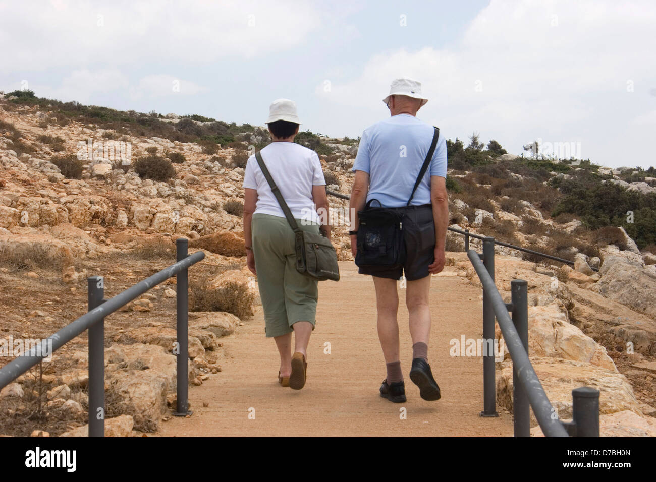 Seniorinnen und Senioren Adamit Parkbesuch im oberen Galiläa Stockbild