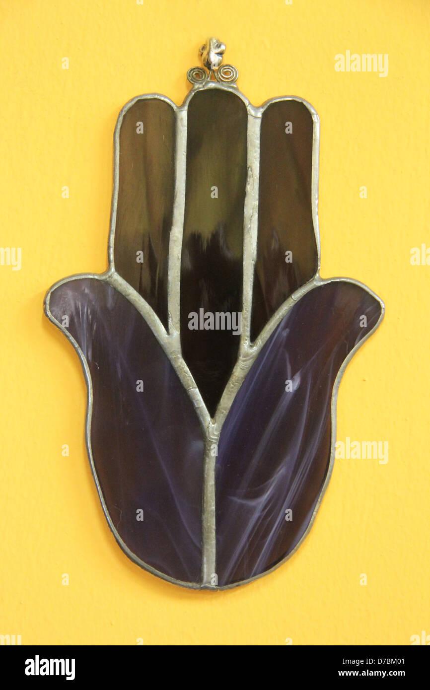 Hamsa Amulett verwendet zum Schutz gegen den bösen Blick Stockbild