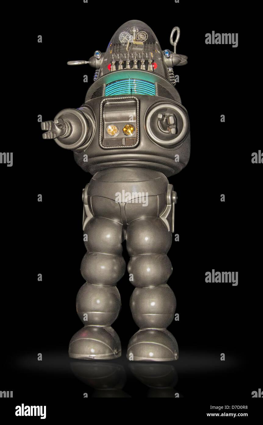 Robby Roboter, Life-Size-Model, erschien Robby in mehreren Science-Fiction-Filme in den 1950er Jahren und Fernsehen Stockbild
