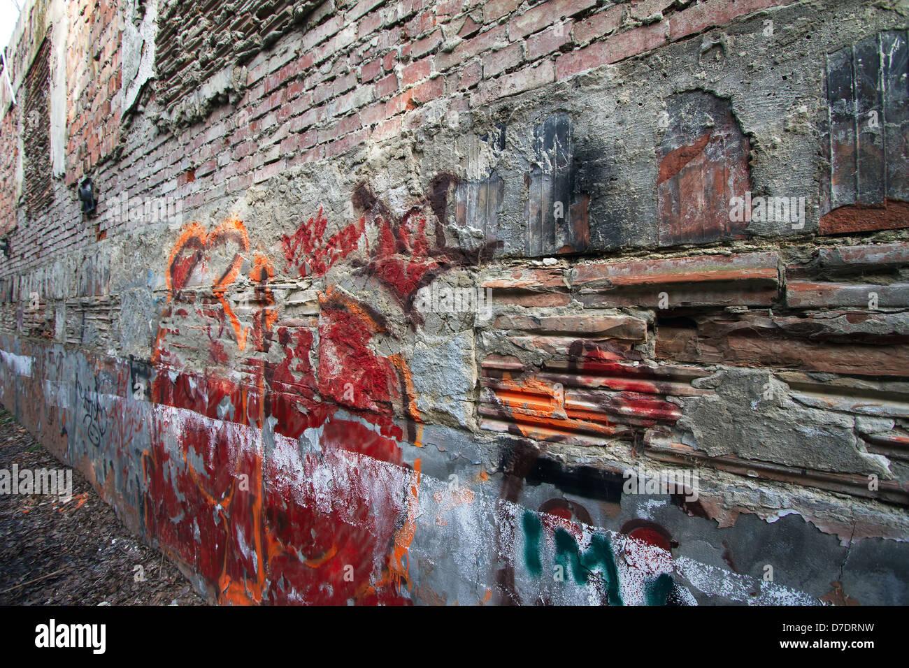 Coole Graffiti Wand In Einem Grunge Stockfoto Bild 56237717 Alamy