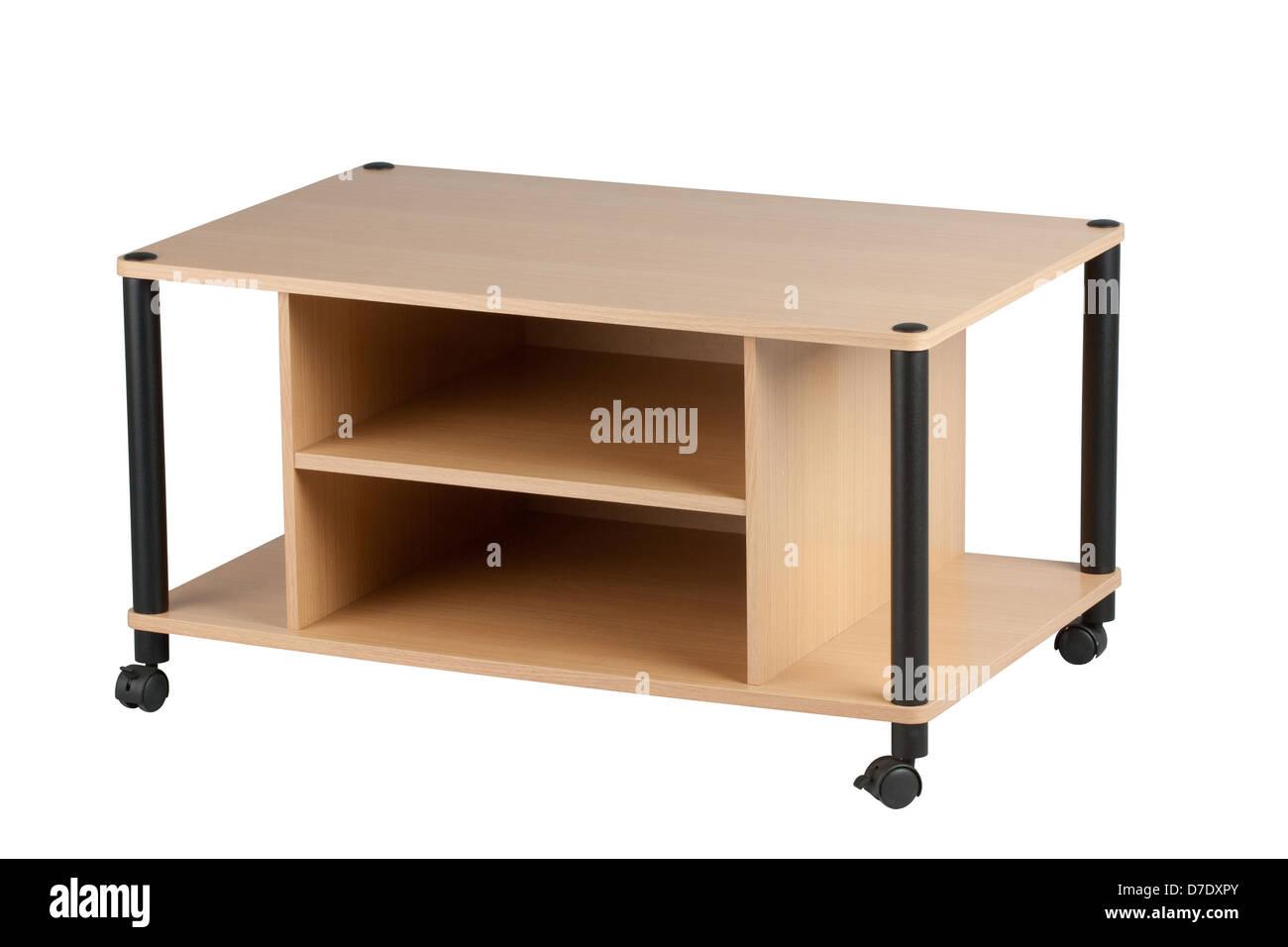 Tv Möbel Aus Holz Mit Rädern Stockfoto Bild 56240099 Alamy