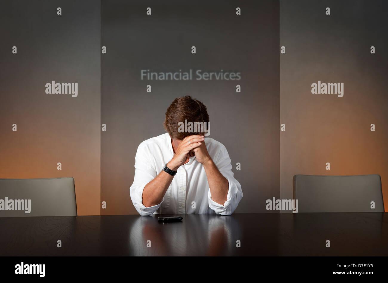 Rezession... Depressionen... Stockfoto