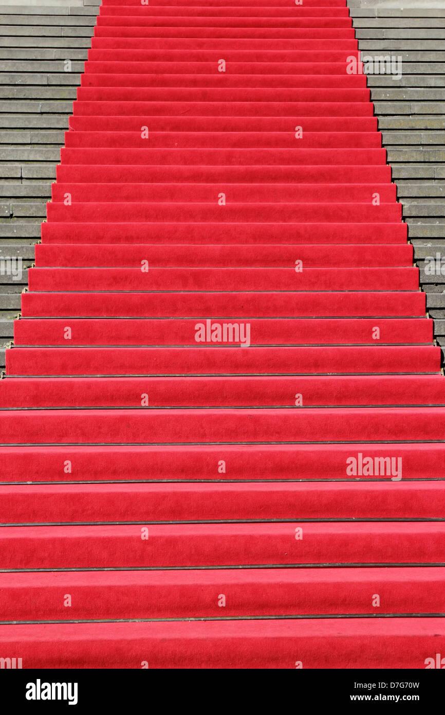 Berlin Mitte Gendarmenmarkt Spielhaus roten Teppich Stockbild