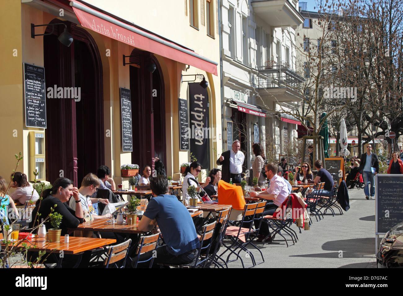 Berlin Prenzlauer Berg Cafe Knaakstr Rykestr Stockfoto Bild
