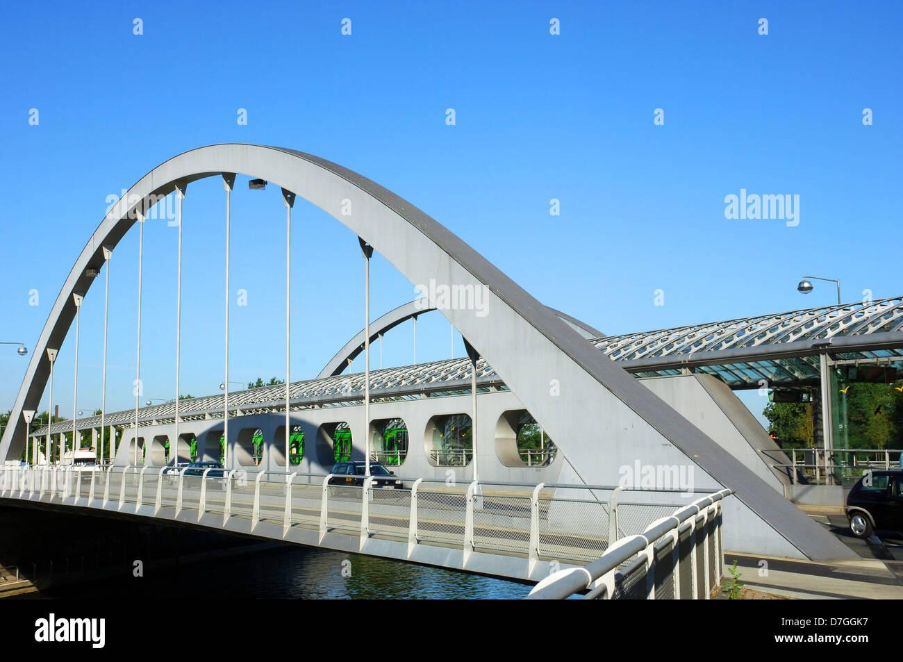 Deutschland, Niedersachsen, Hannover, Noltemeyerbruecke, Noltemeyerbrücke Stockbild