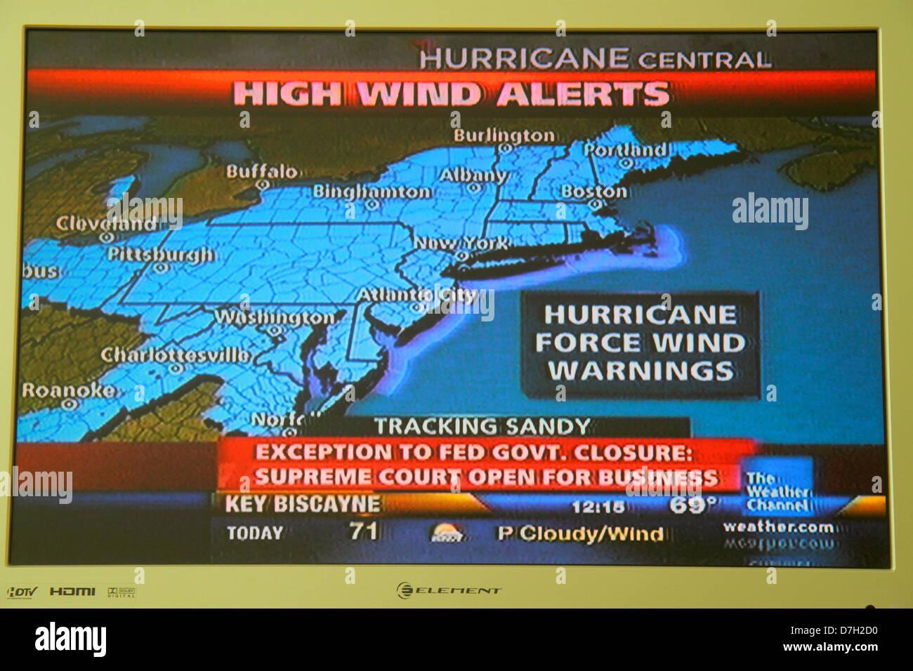 Miami Beach Florida TV Fernseher Bildschirm Flachbildschirm HDTV ...
