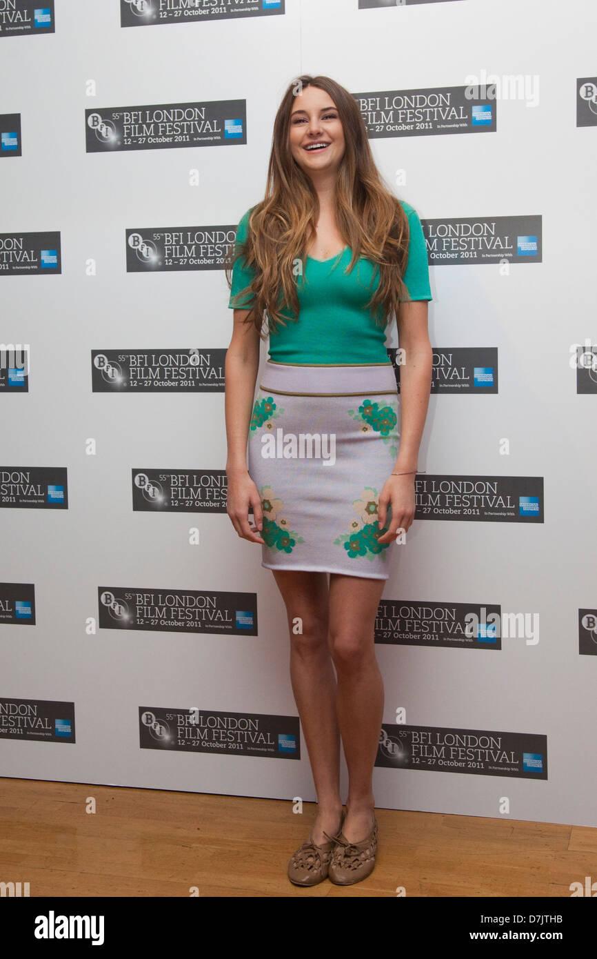 Schauspielerin Shailene Woodley, The Descendants Fototermin, BFI London Film Festival Stockbild