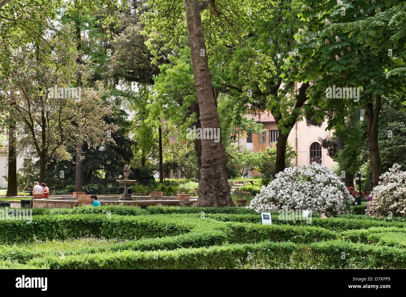 Der botanische garten orto botanico di firenze florenz italien
