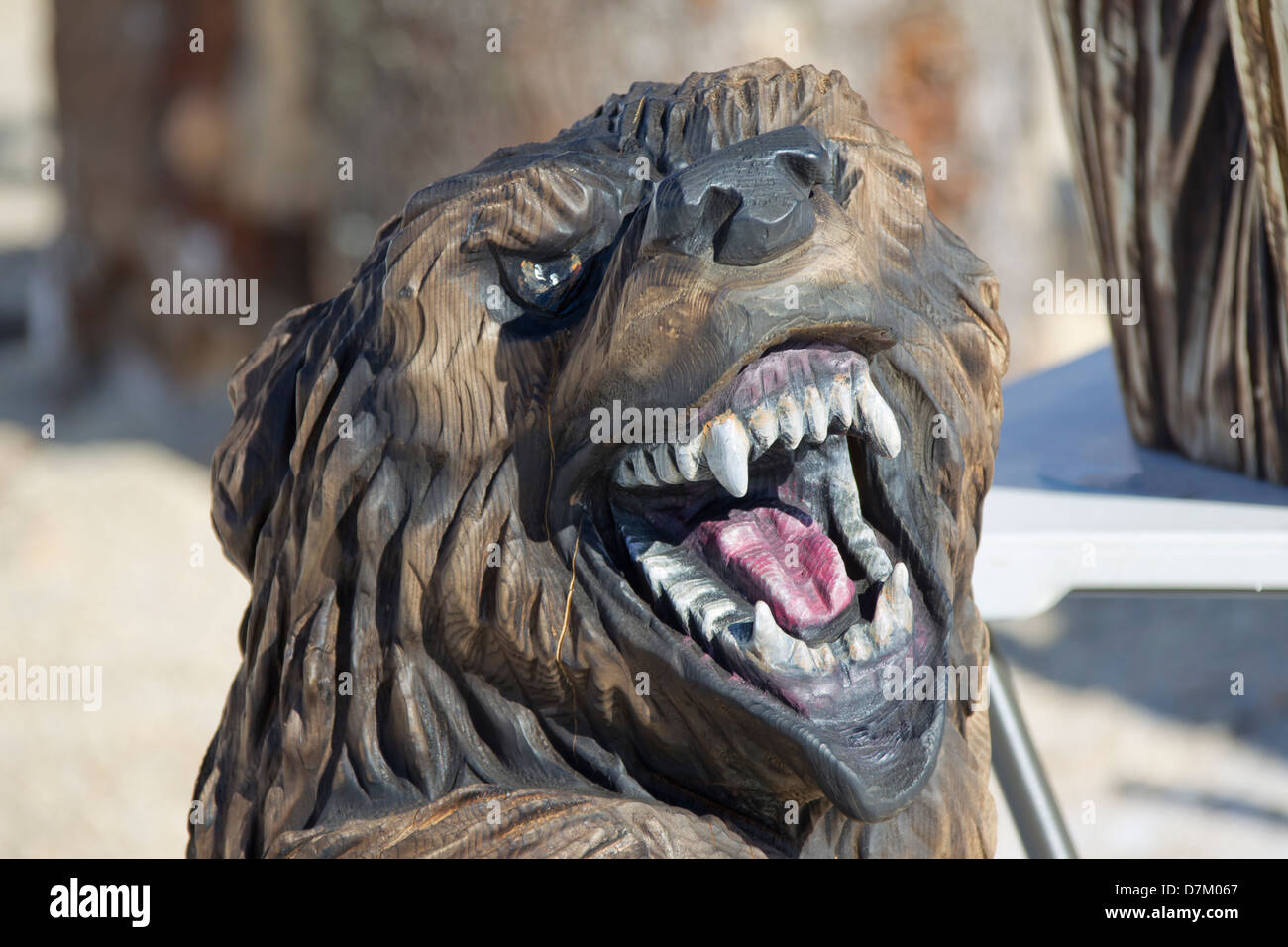 Chainsaw carving stockfotos bilder alamy