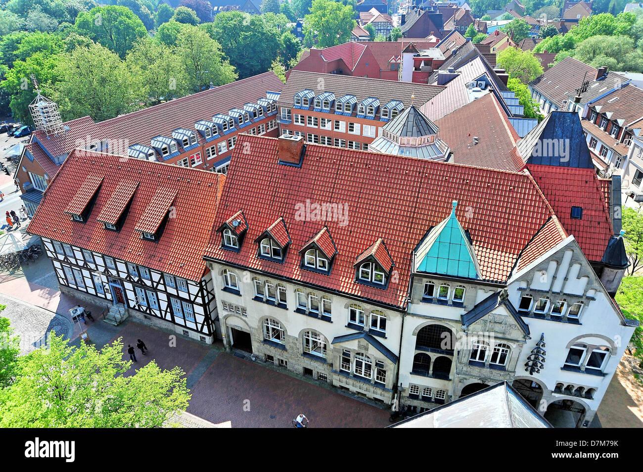 Townhall, Deutschland, Wunstorf, Niedersachsen Stockbild