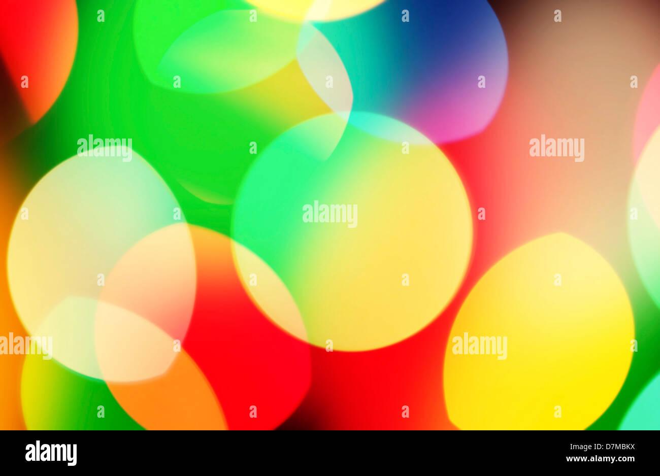 Farbige Lichter Stockbild
