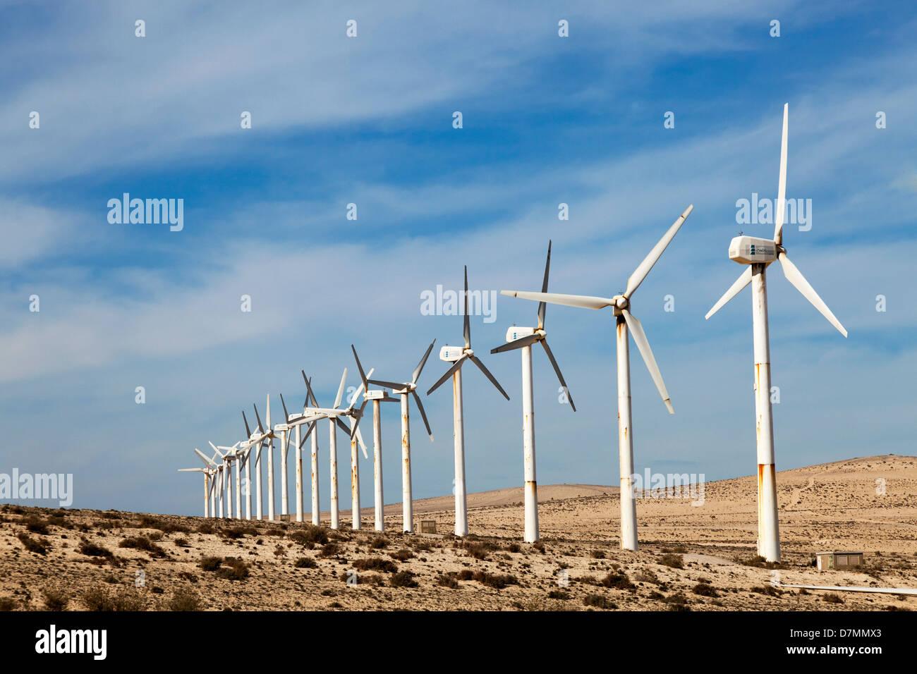 Windkraftanlagen Stockbild