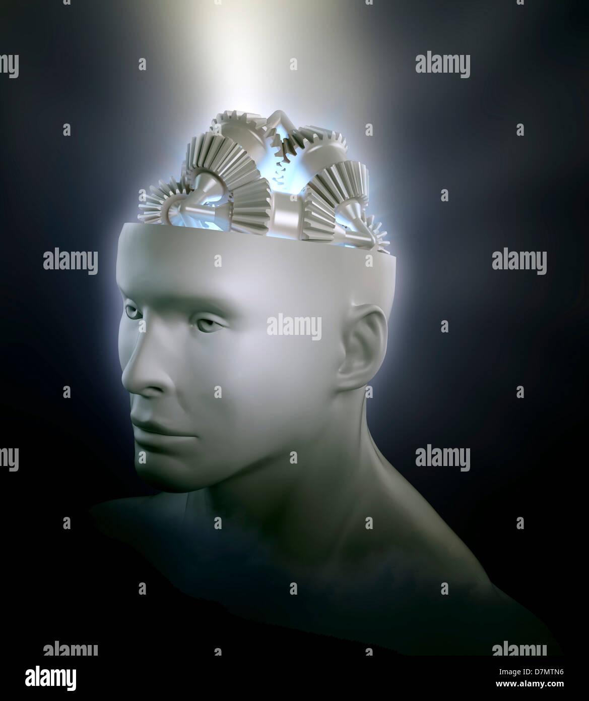 Bewusstsein, Konzeptbild Stockfoto