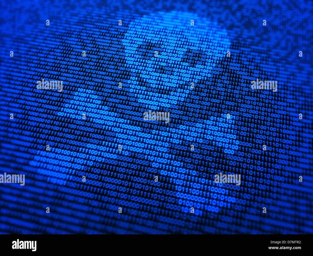 Malware, konzeptuellen Kunstwerk Stockbild