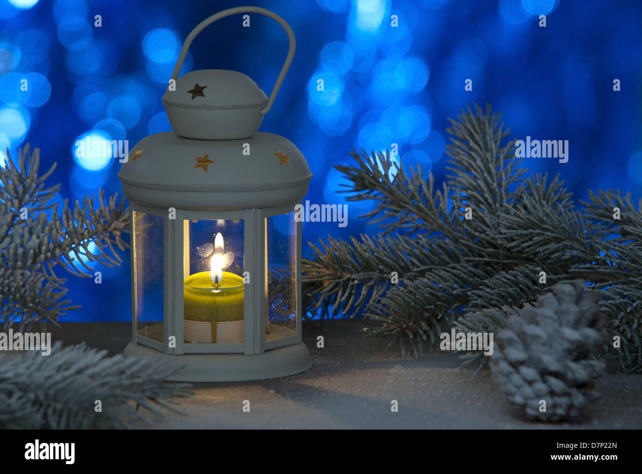 Weihnachten Laterne Stockbild