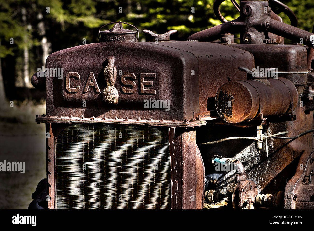 Fall, Traktor, Geräte, landwirtschaftliche Geräte. Jerome I. Fall, J.I Fall Dreschmaschine Company, Fall. Stockbild