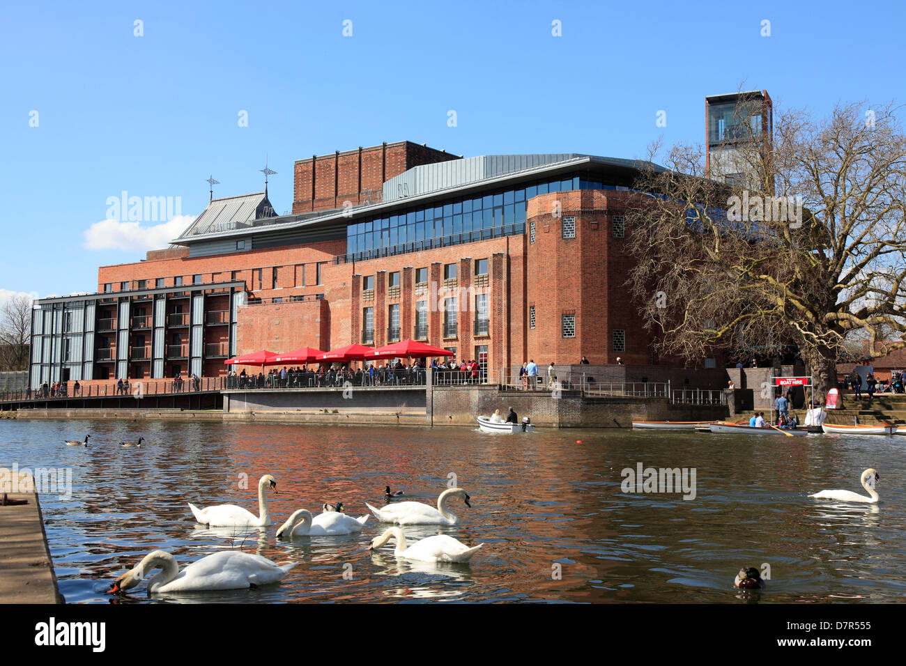 Royal Shakespeare Company Theater in Stratford on Avon England. Stockbild
