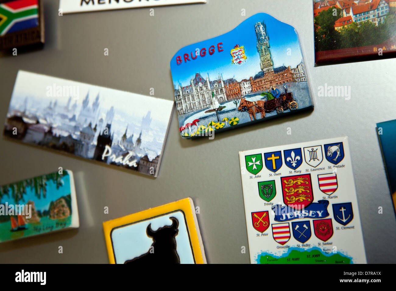 Kühlschrank Magnete : Reise kühlschrank magnete stockfoto bild: 56446486 alamy