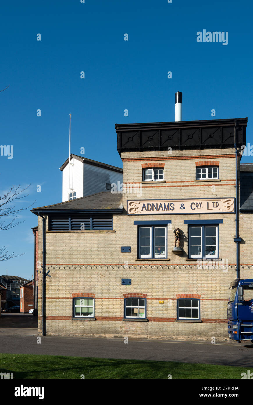 Adnams & Firma Brauerei, Southwold, Suffolk, UK -1 Stockbild