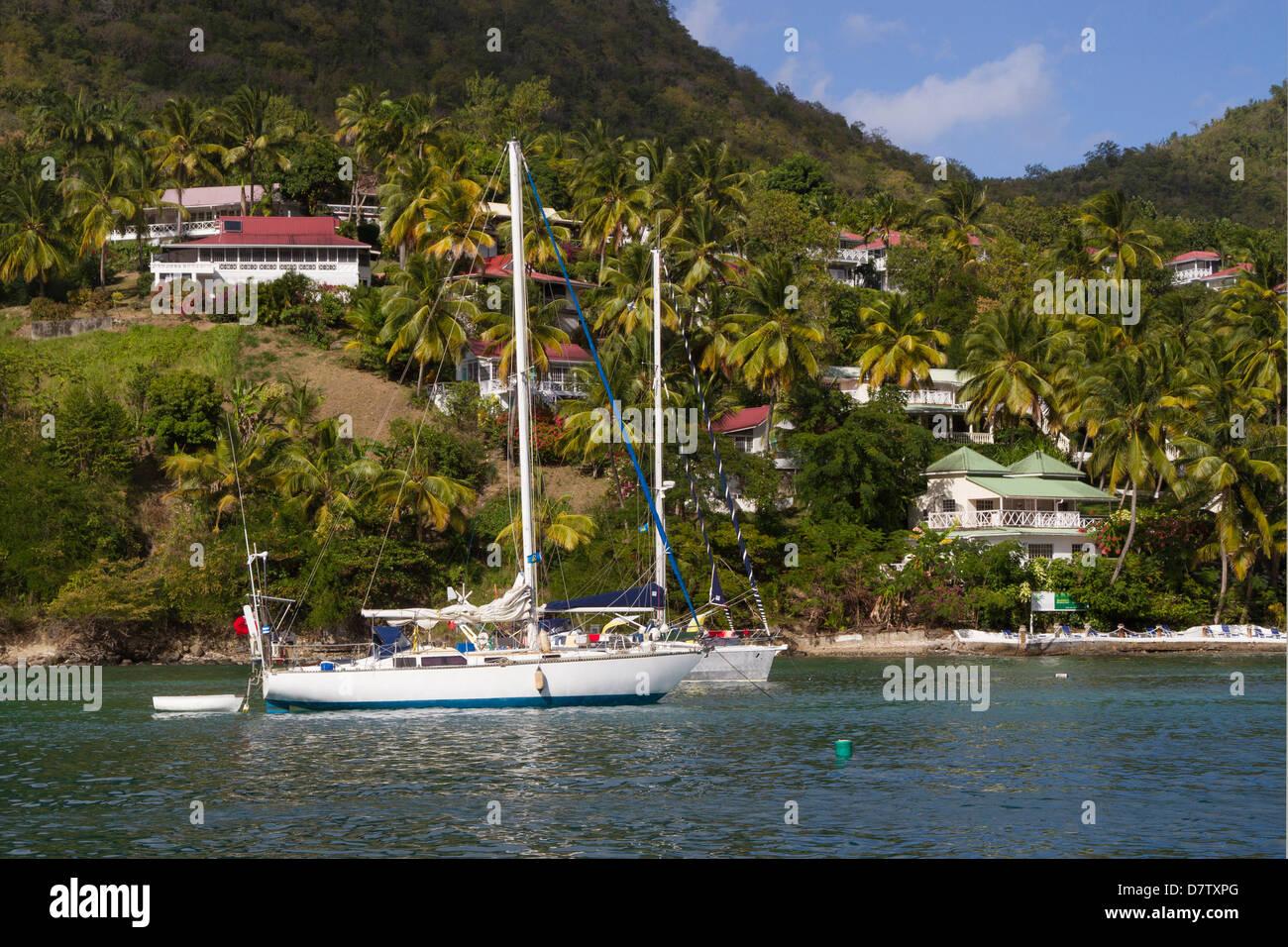 Marigot Bay, St. Lucia, Windward-Inseln, West Indies, Caribbean Stockbild