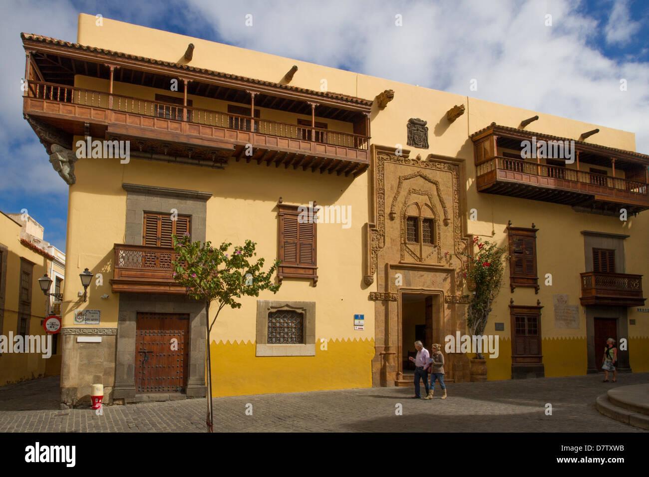Museum-Residenz des Columbus (Doppelpunkt), Las Palmas, Kanarische Inseln, Spanien Stockbild