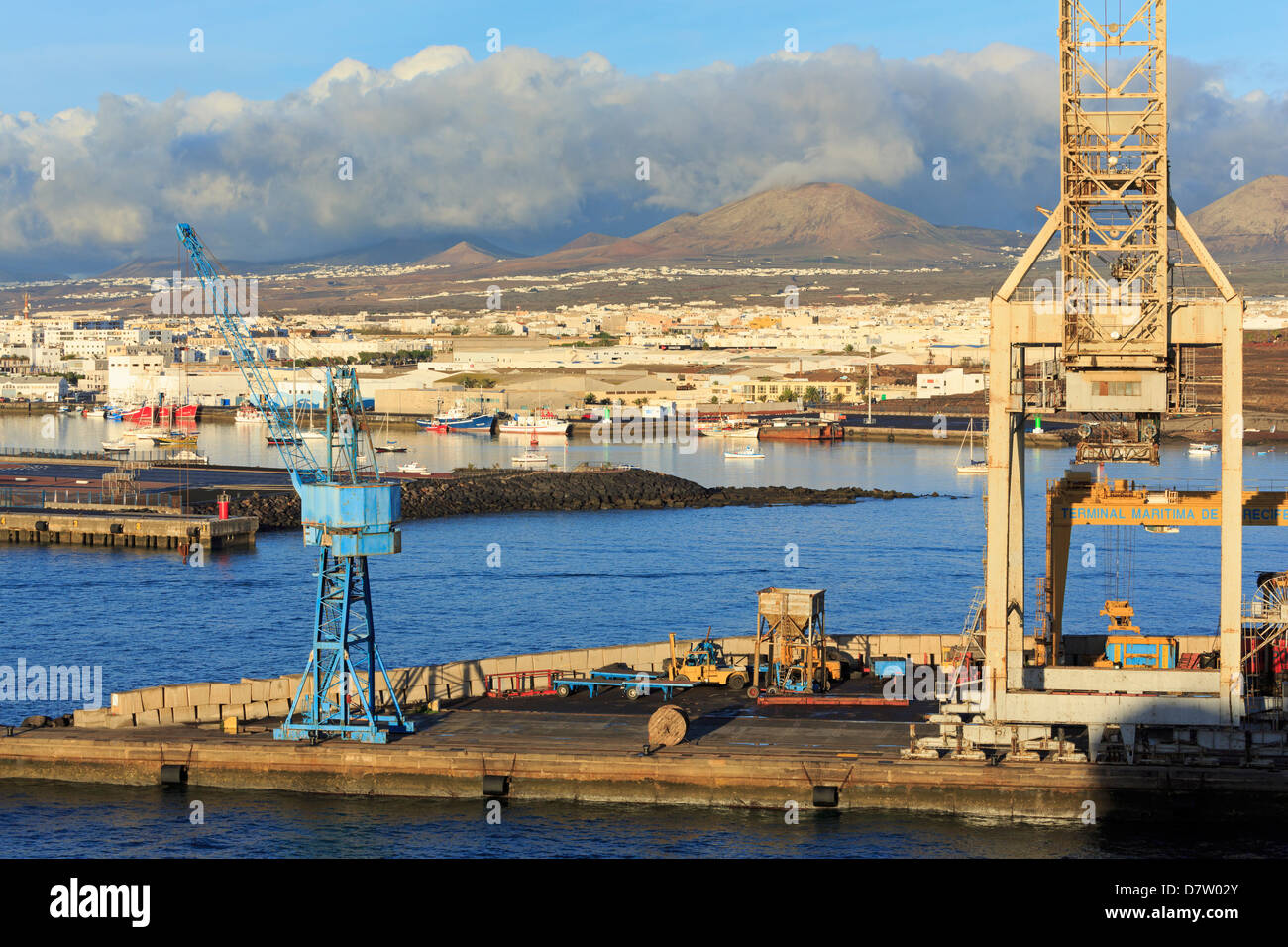 Hafen von Marmoles in Arrecife, Insel Lanzarote, Kanarische Inseln, Spanien, Atlantik Stockbild