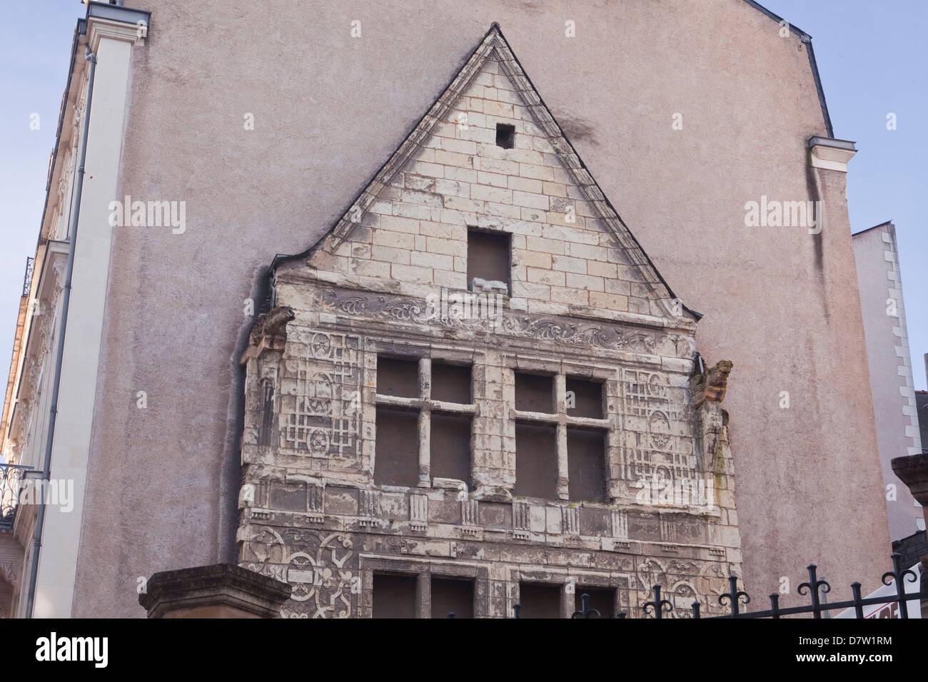 Bestandteil der Logis Pince in Angers, Maine-et-Loire, Frankreich Stockbild