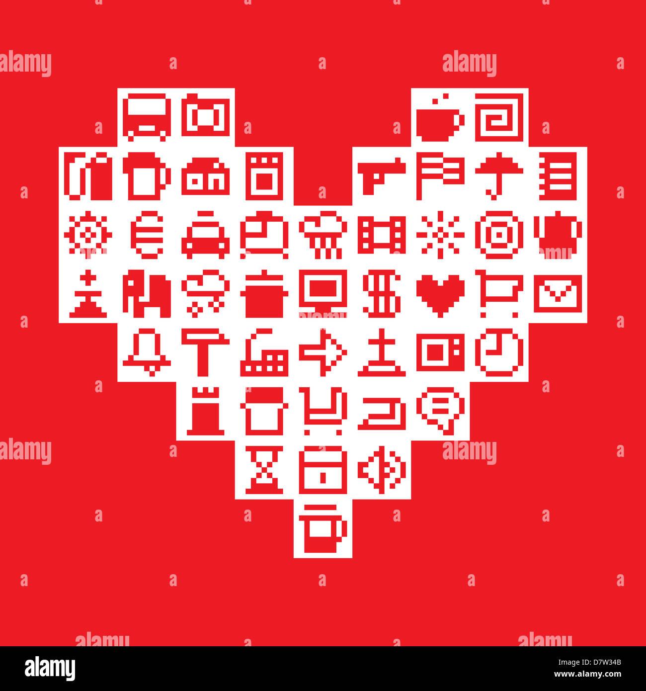 Pixel-Herz Stockbild
