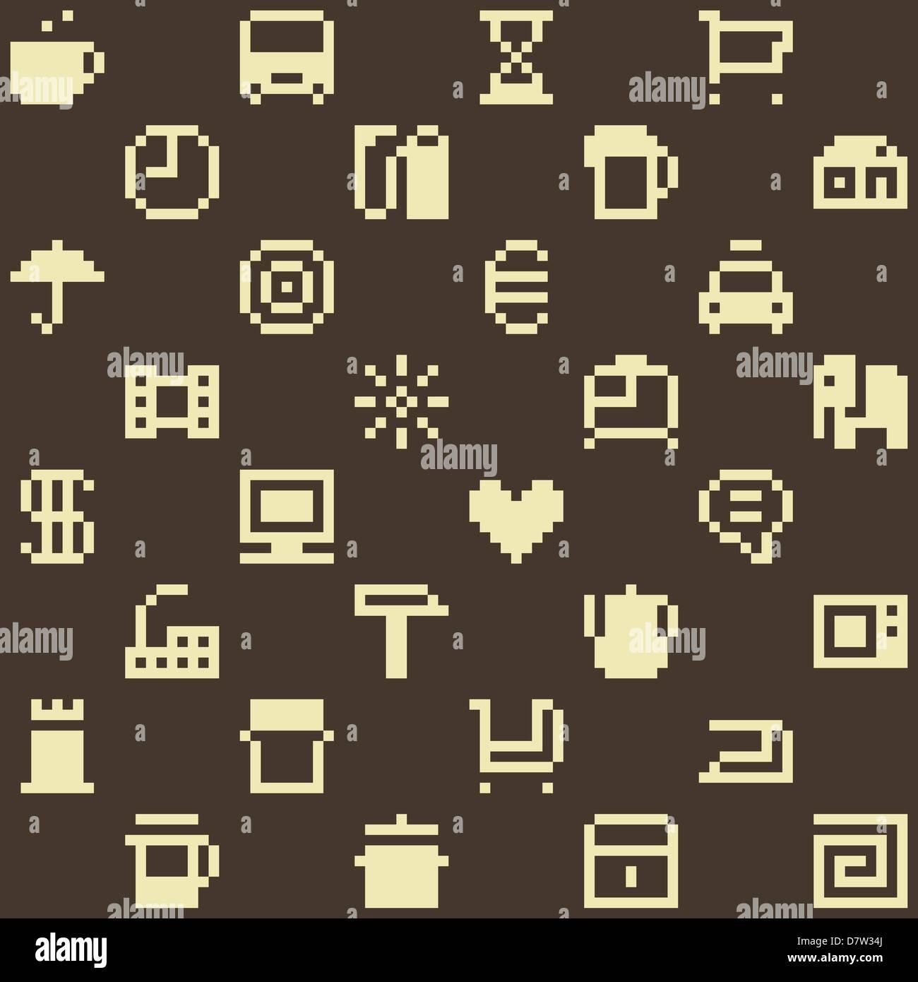 Pixel-Muster Stockbild