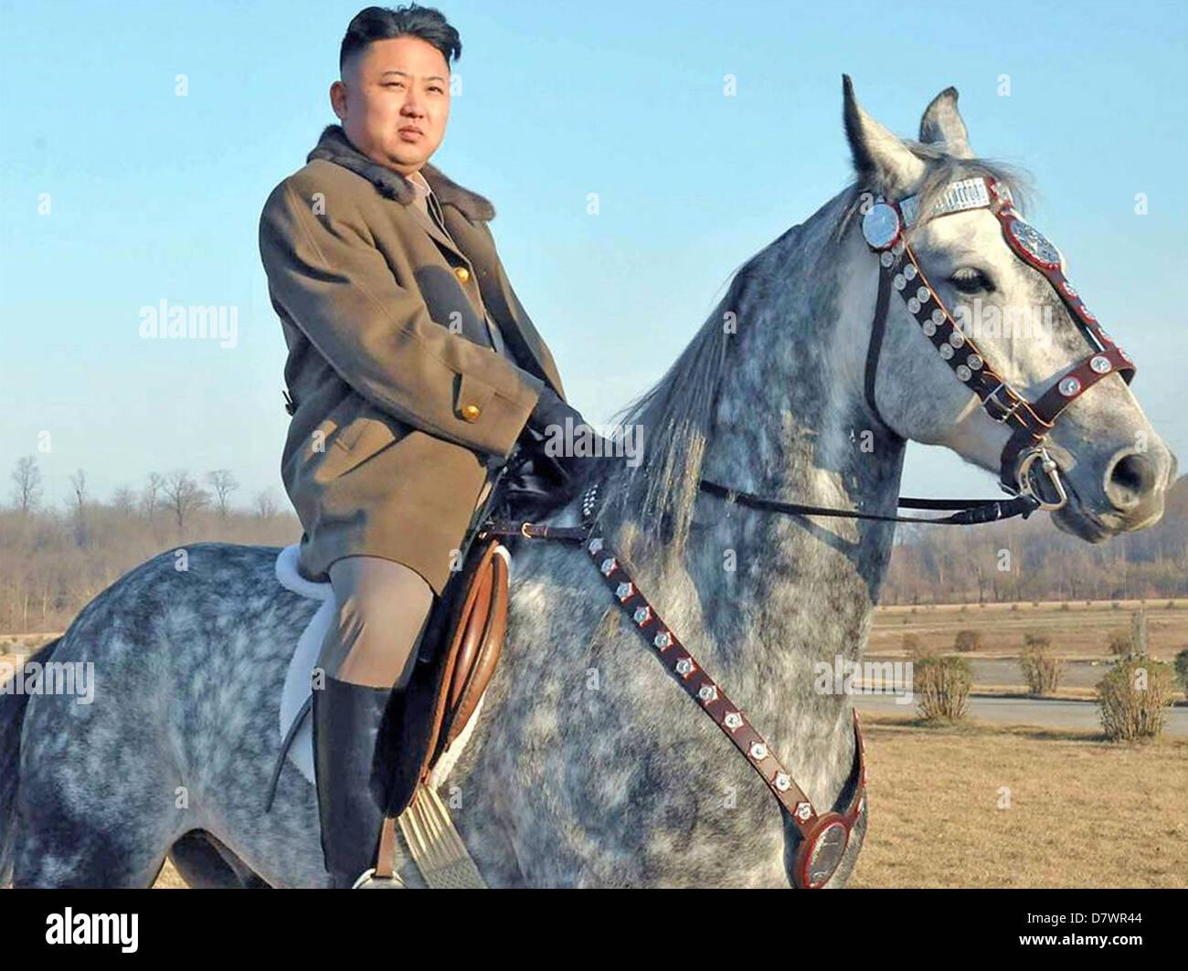 KIM JONG-un oberste Führer der Demokratischen Volksrepublik Korea im Jahr 2013 Stockbild