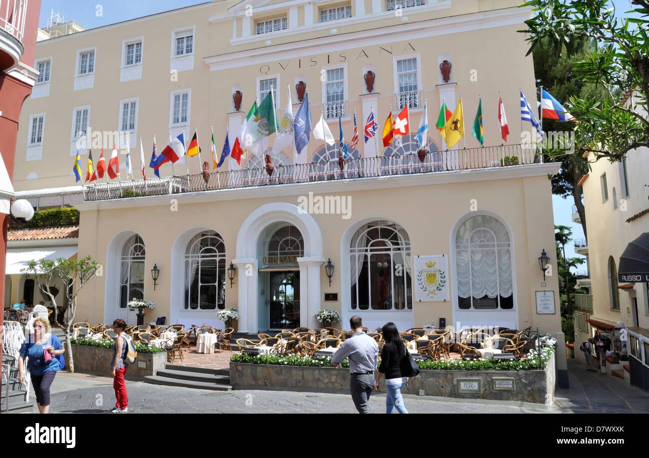 Das Grand Hotel Quisisana Ein Funf Sterne Hotel In Capri Stadt Auf