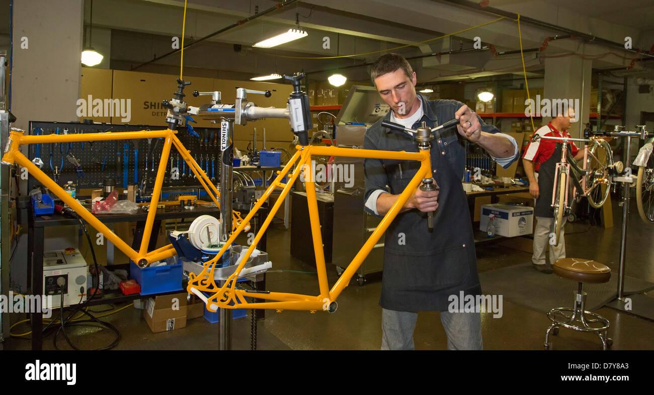 Fahrrad-Fertigung in Detroit Stockbild