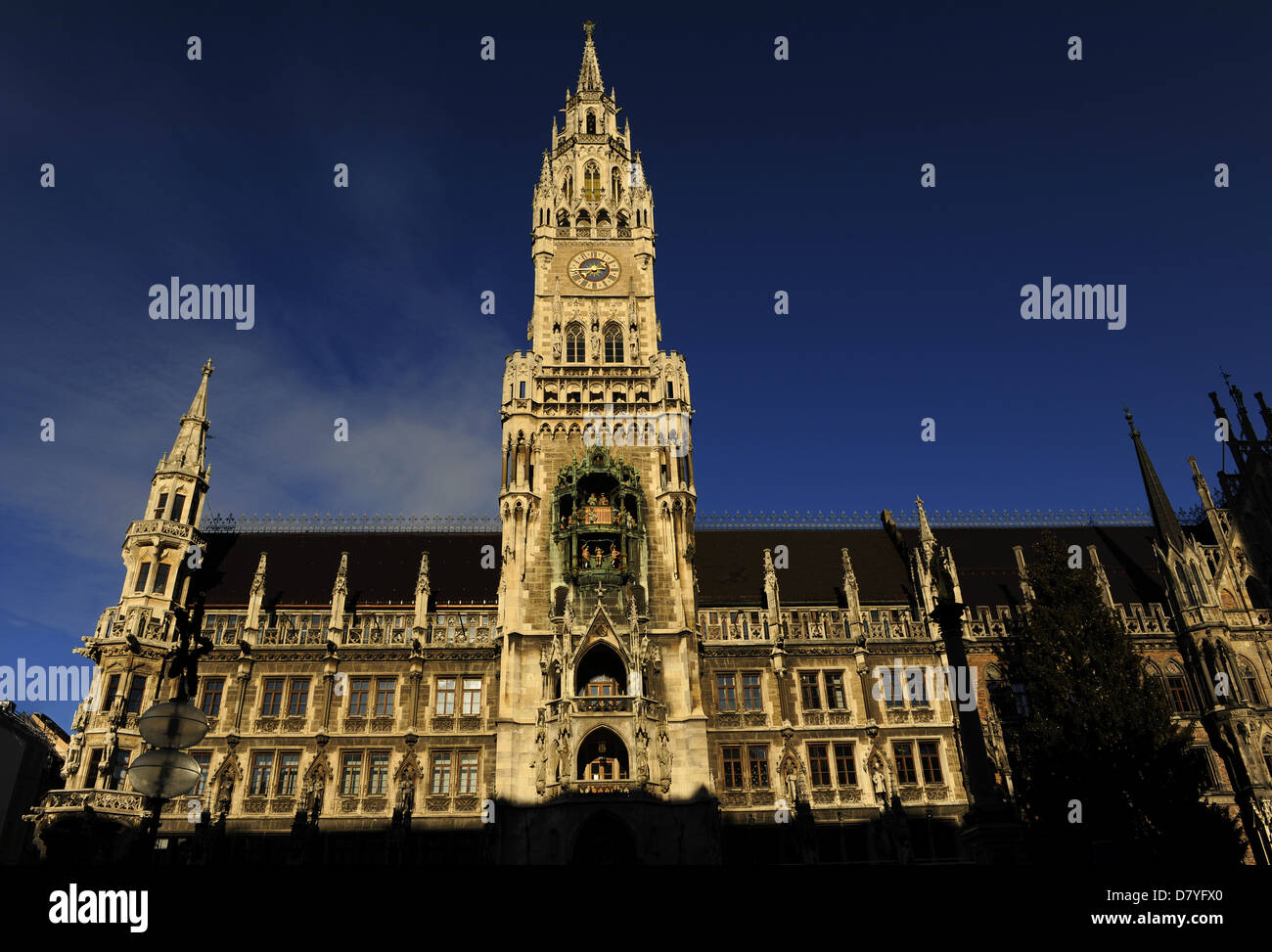 Deutschland. München. Das neue Rathaus, erbaut zwischen 1867 und 1908 von Georg von Hauberrisser (1841-1922) Stockbild
