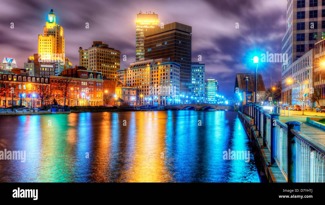 Skyline von Providence, Rhode Island, USA. Stockbild